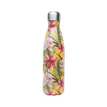 Bouteille isotherme - Tropical Fleur Jaune - 500ml