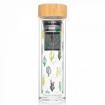 Bouteille infuseur nomade - Cactus