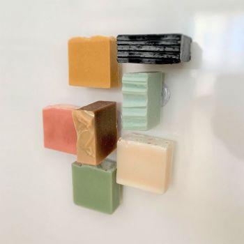 Porte savon minimaliste aimanté - Sans emballage - Fabriqué en France