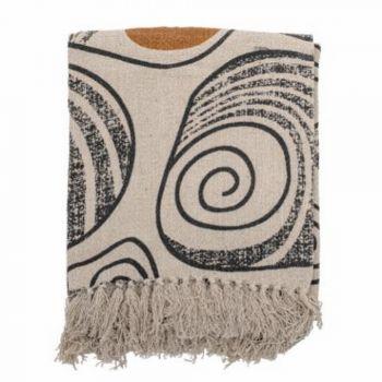 Plaid d'été coquillages en coton - 160 x 130 cm - Bloomingville