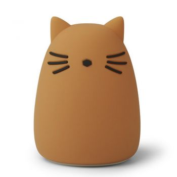 Veilleuse rechargeable - Chat moutarde