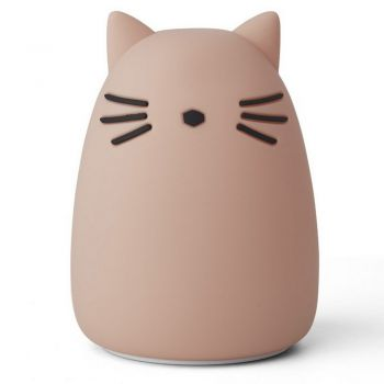 Veilleuse rechargeable - Chat - Rose