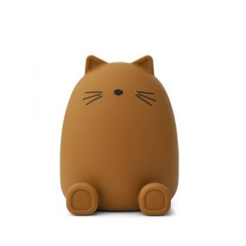 Tirelire silicone - Chat - Moutarde - Liewood