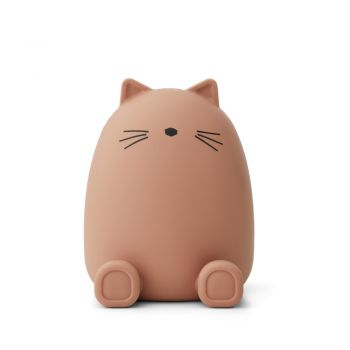Tirelire silicone - Chat - Rose - Liewood