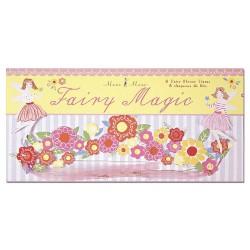 8 Couronnes de fleurs en papier