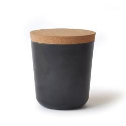 Grand bocal avec couvercle en liège - Biobu - noir