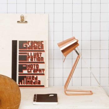 Lampe d'appoint Z métal et cuivre