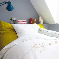 Draps de lit 100 x 135 cm Oiseaux sur le fil de Mimi'lou
