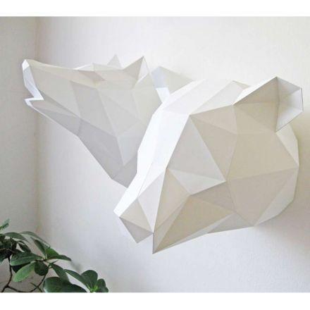 Kit tête d'ours blanc en origami