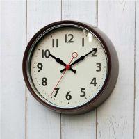 Horloge 21 cm style rétro - chocolat