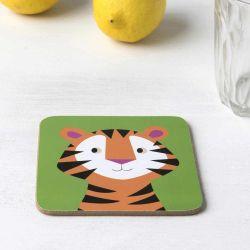 Sous- verre Tigre 10,5 x 10,5 cm Liège