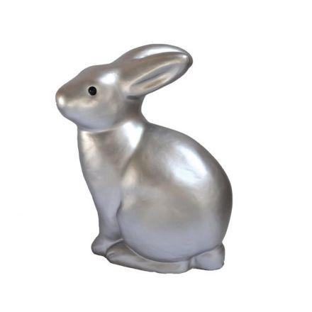 Lampe lapin argenté
