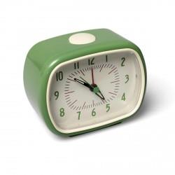 Réveil vintage en bakelite vert rétro