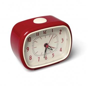 Réveil matin en bakelite rouge