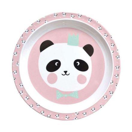 Assiette 21,5 cm en mélamine Panda Eef Lillemor