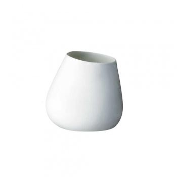Vase asymétrique 9,5 cm en porcelaine blanche Bloomingville