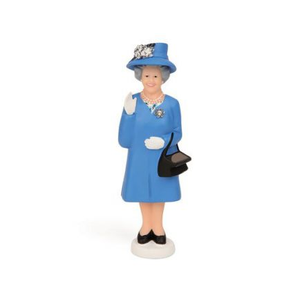 Reine d'Angleterre main dynamique solaire bleu au chapeau
