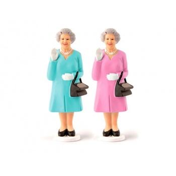 Reine d'Angleterre main dynamique solaire bleue turquoise