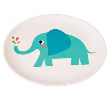Assiette en mélamine éléphant pour enfants