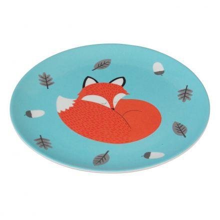 Assiette en mélamine renard pour enfants