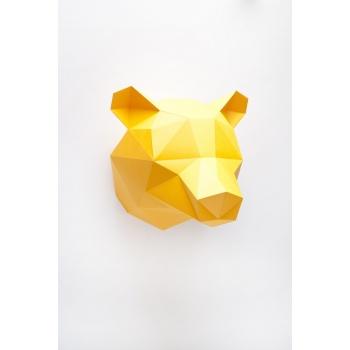 Trophée en origami Ours orange Assembli