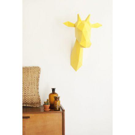 Kit tête de girafe jaune en origami Assembli