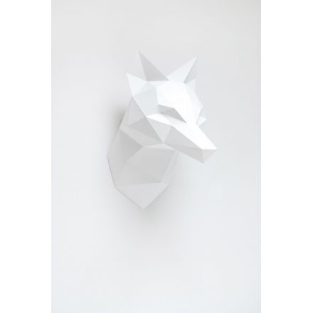 Trophée en origami Renard blanc Assembli