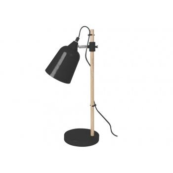 Lampe de table wood like noire
