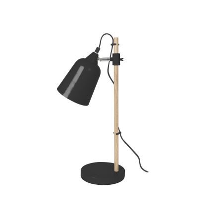 Lampe de table wood like noire