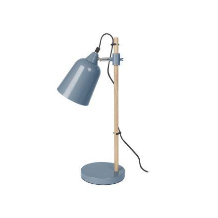 Lampe de table wood like bleu