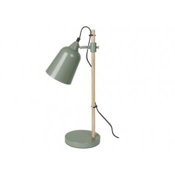 Lampe de table wood like verte