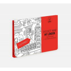 Grand plan de poche à personnaliser Londres 52 cm x 38 cm - Pocket Map Omy Design and Play