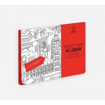 Grand plan de poche à personnaliser Londres 52 cm x 38 cm - Pocket Map Omy Design and Play
