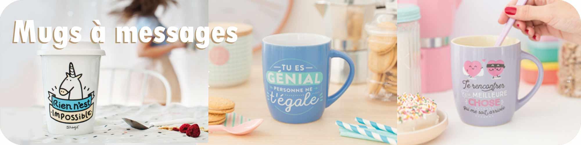 Les mugs à messages