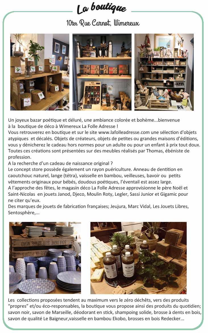 Boutique magasin de décoration à Wimereux