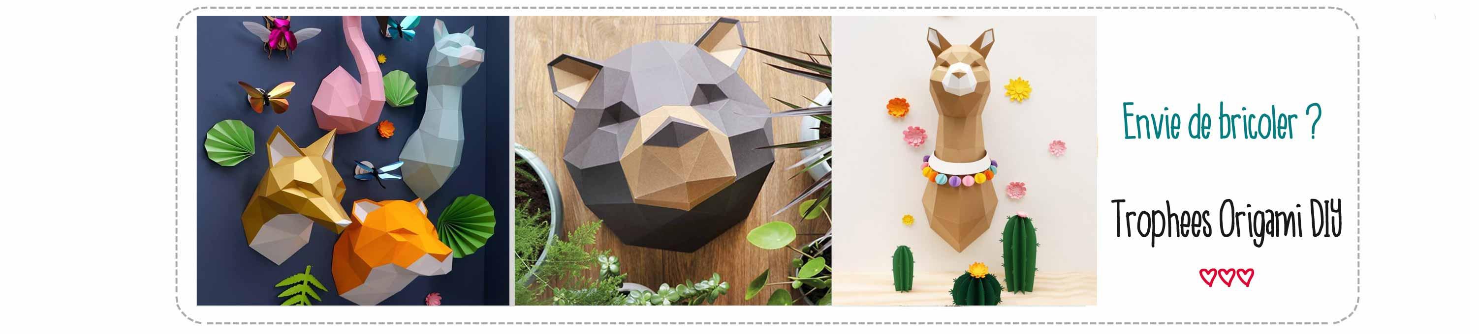 Trophées origami Assembli DIY